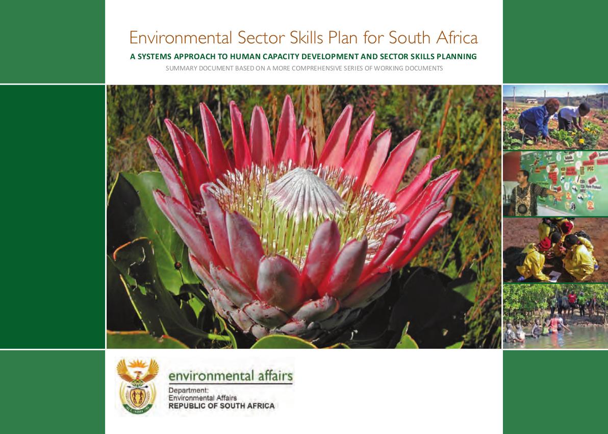 Environmental Sector Skills Plan